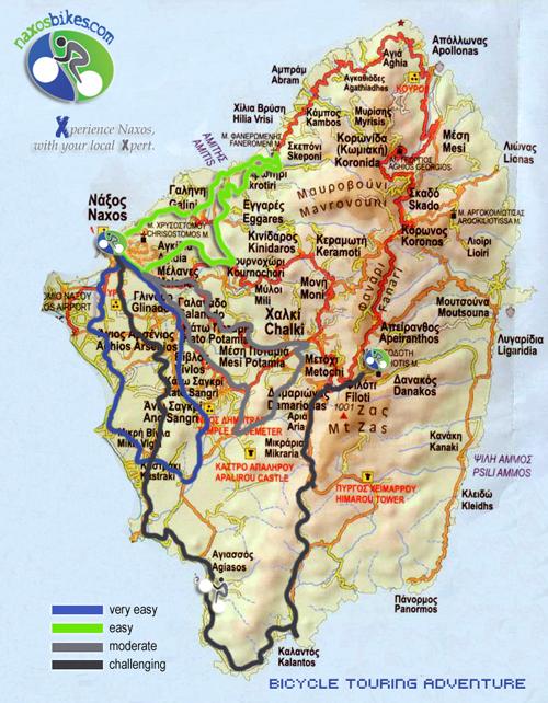 naxos bikes tours
